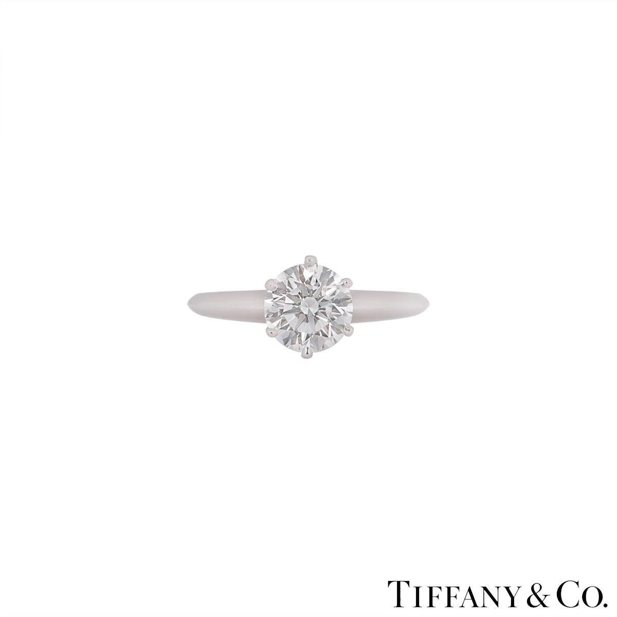 Tiffany & Co. Platinum Diamond Setting Ring 1.51ct F/VS1 XXX